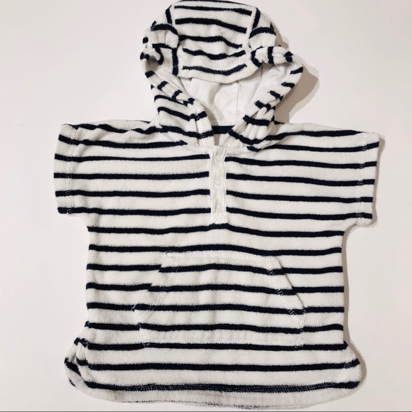 GAP Other - Babygap 12-18m striped hooded swim cover up